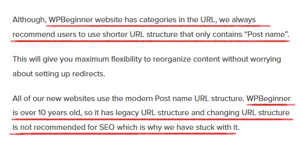 wpbeginner URL structure